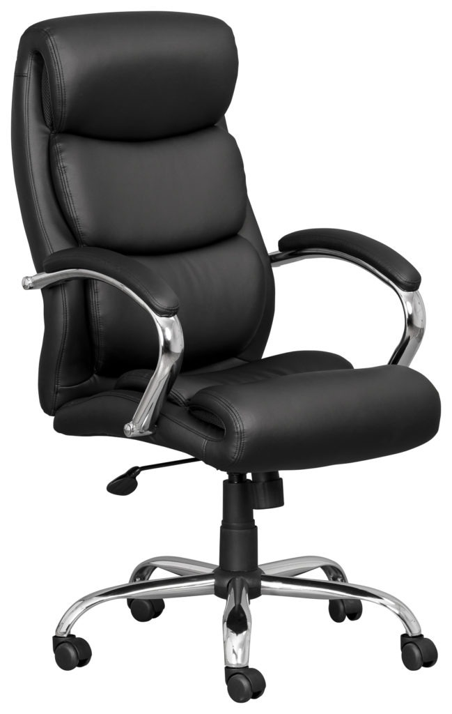 Executive Leather Chair with Chrome armrests