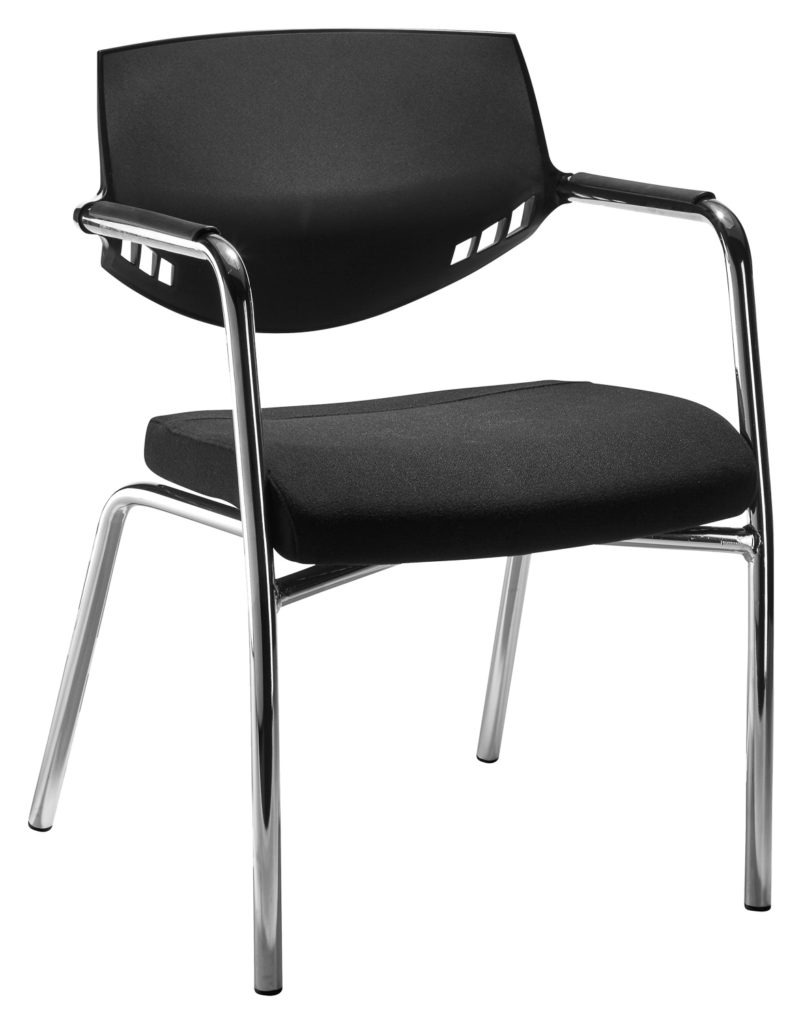 Auriga Visitors chair - Black backrest with 4-legged frame