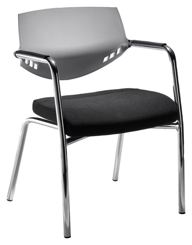 Auriga Visitors chair - Grey backrest with 4-legged frame