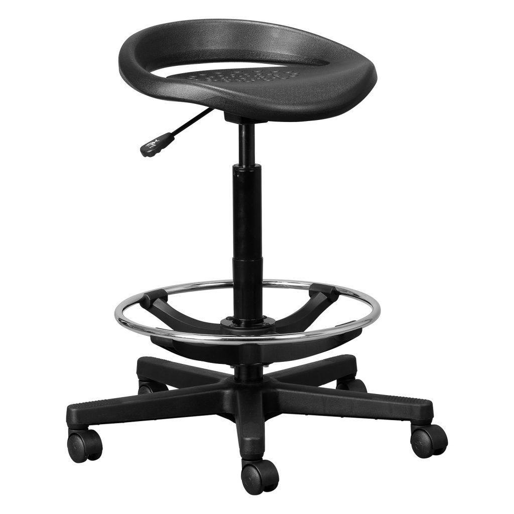 Round PU Stool with Footring
