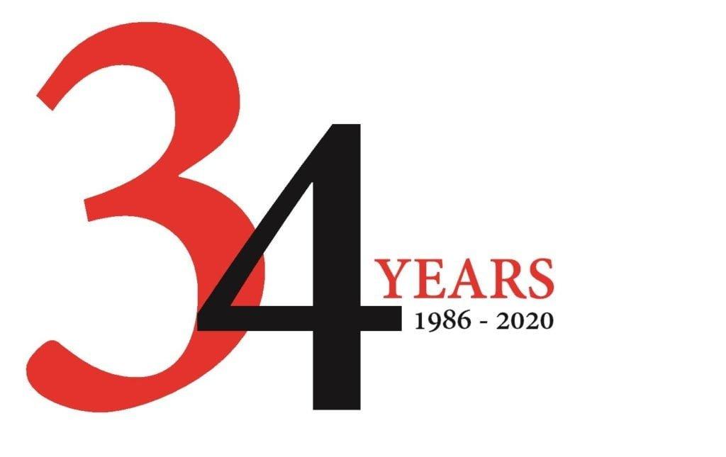 Karo 34 year logo