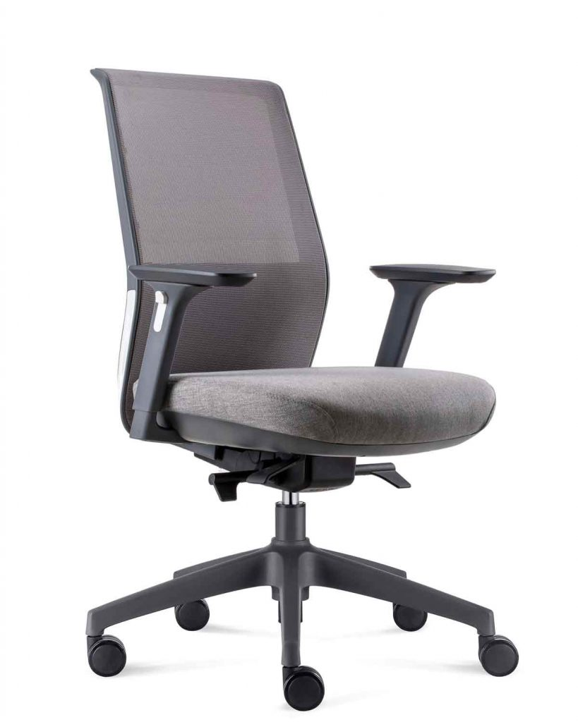 Cre8 Task Office Chair   Grey Upholstery   Lumbar Support
