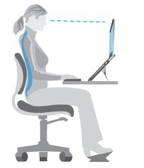 laptop ergonomic sitting posture