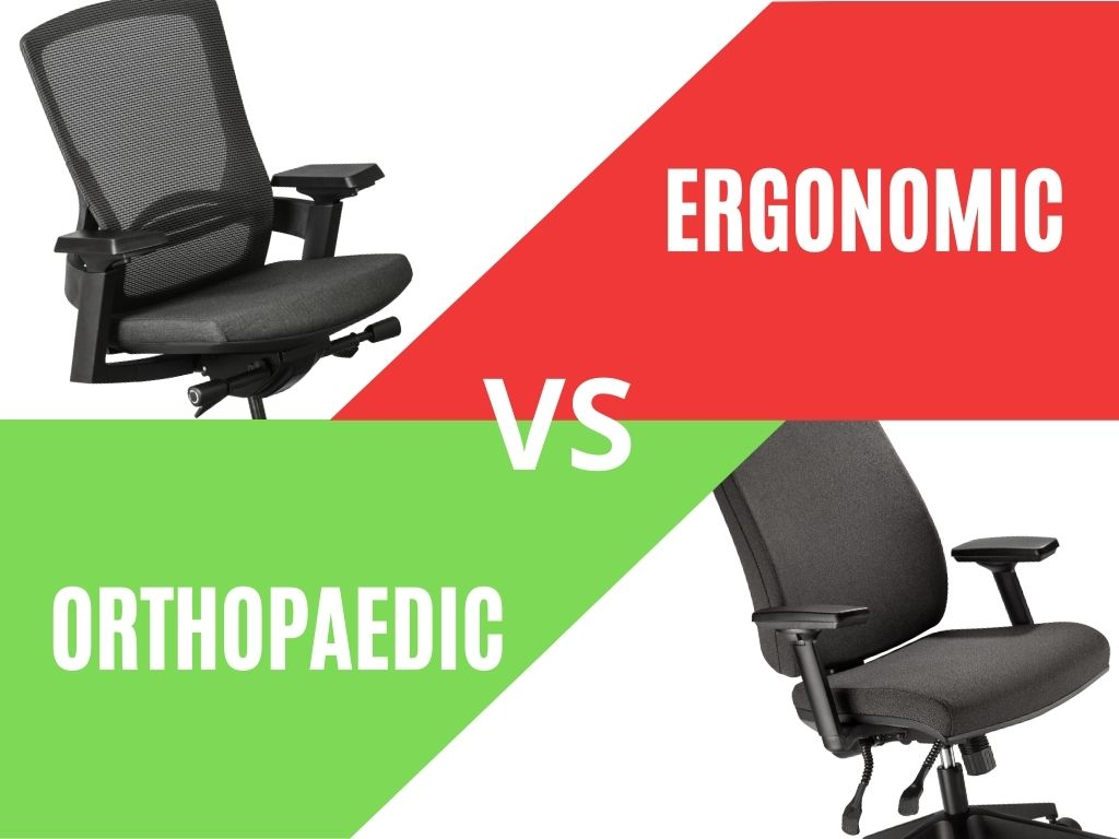 What is the difference between an orthopaedic and ergonomic chair?
