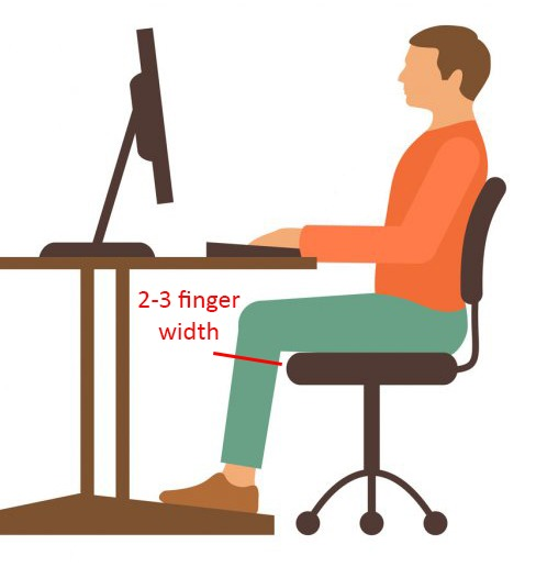 how to choose a comfortable computer chair. seat depth adjustment