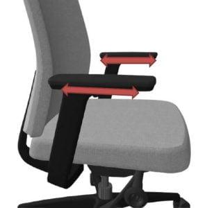 office chair adjustable armrests - depth adjustment