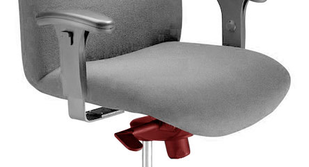 frontal-pivot office chair mechanism