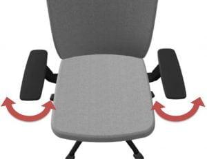 office chair adjustable armrests - pivot adjustment