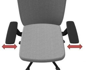 office chair adjustable armrests - width adjustment