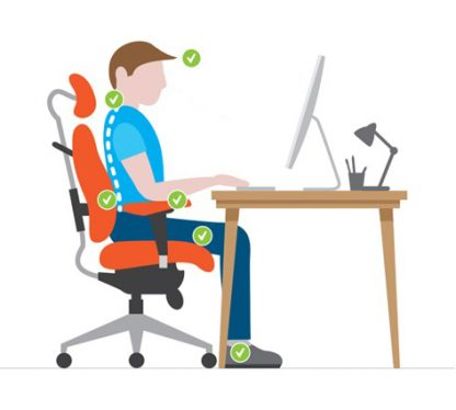 what is the right way to sit