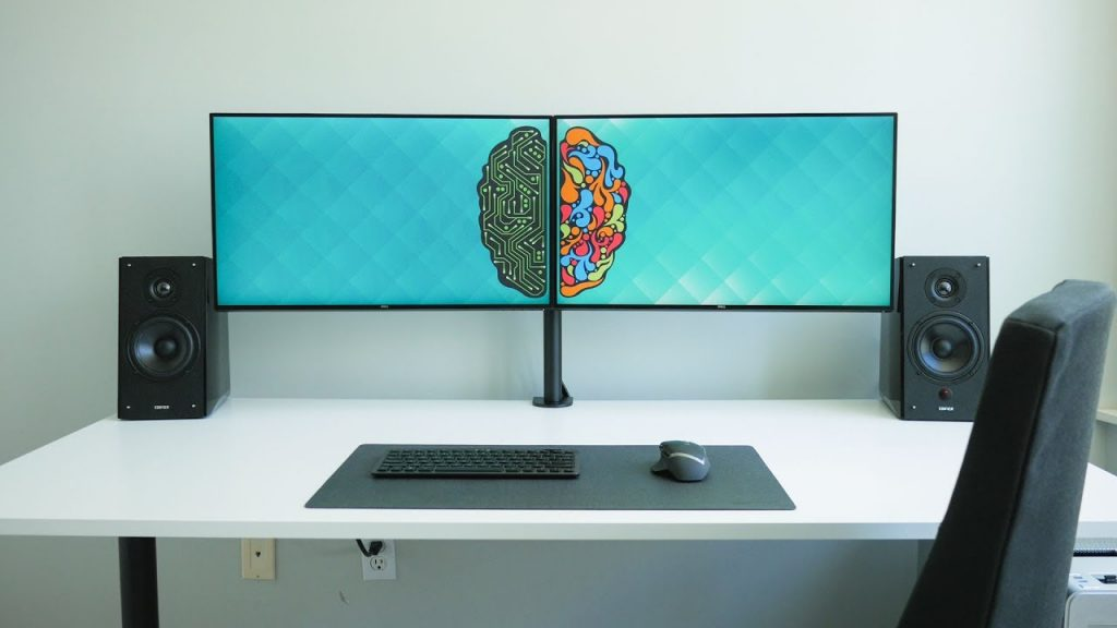 dual computer monitor setup
