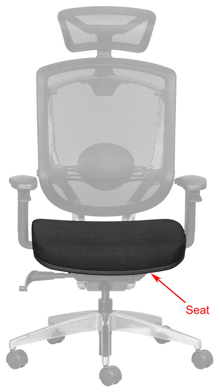 seat on office chair for call centre and control room