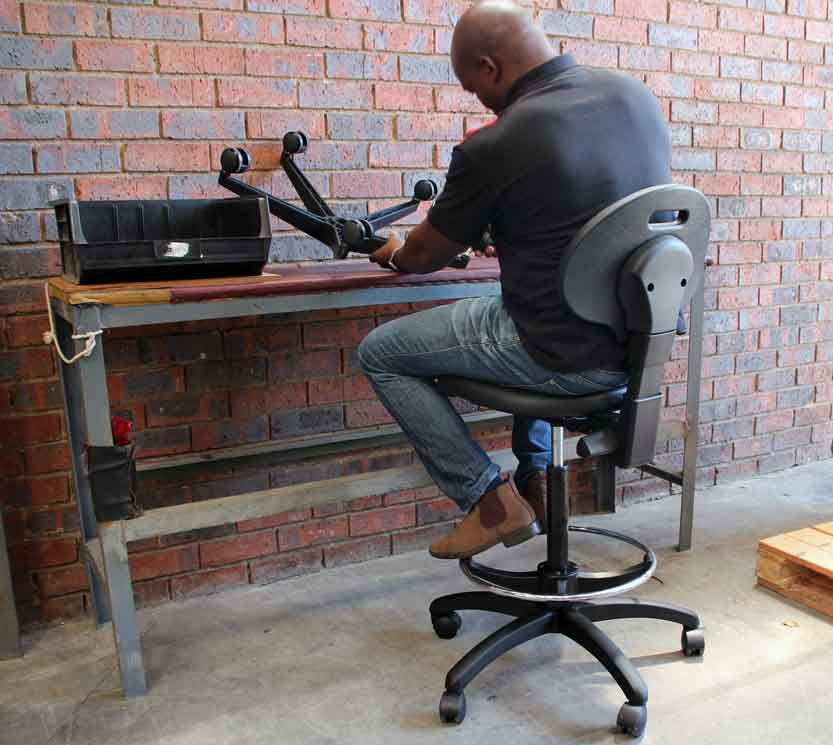 PU chair for laboratory or production work