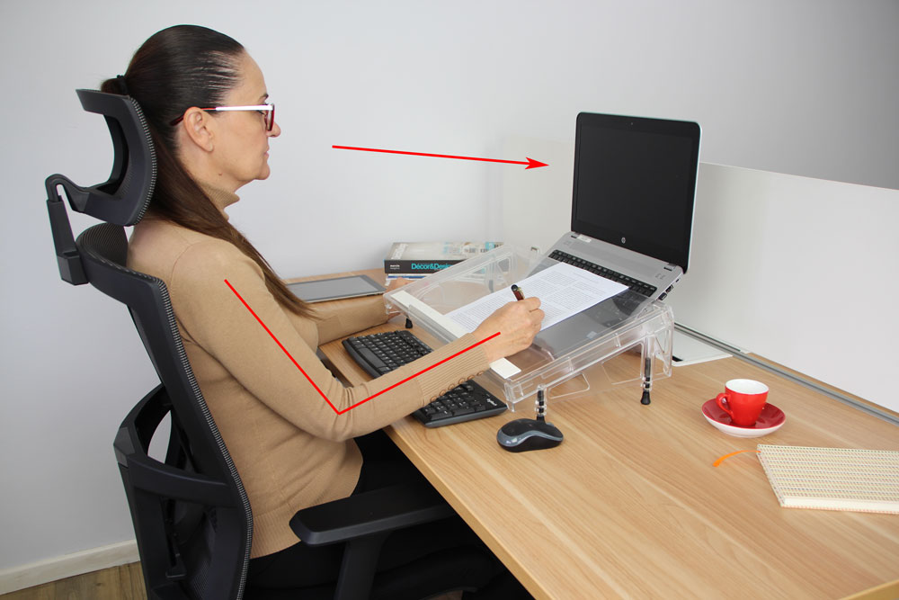 A4 document holder or stand for desks