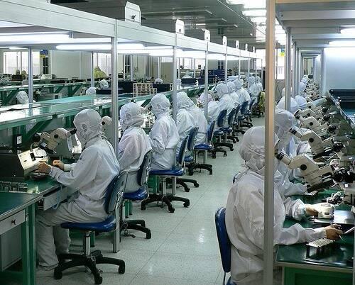 electronics assembly line for better ergonomics