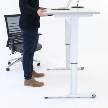 pneumatic height adjustable standing desk available in South Africa