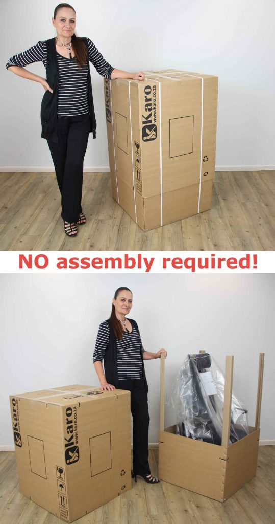 Karo office chairs are delivered to Cape Town and Durban fully assembled