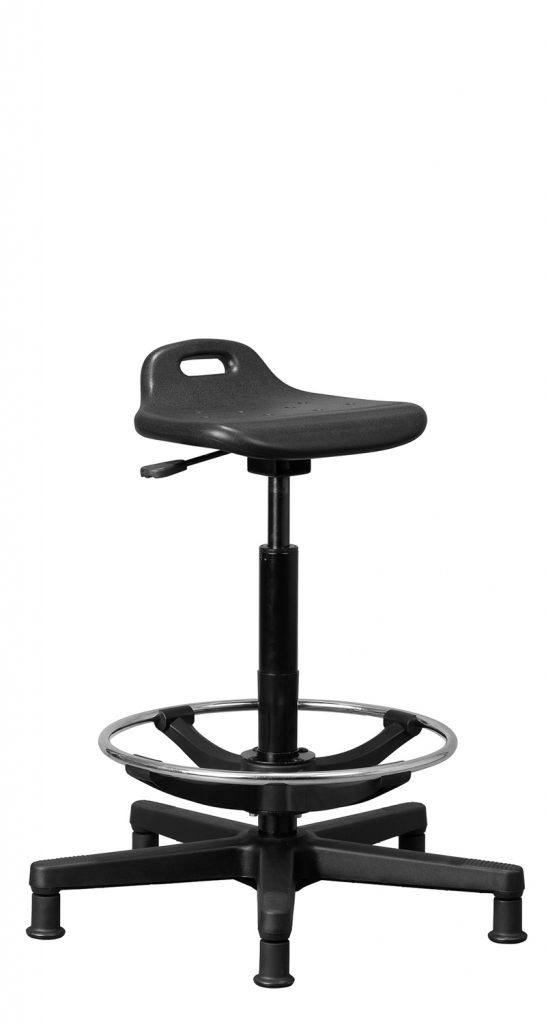 Sit-Stand Stool with Footring