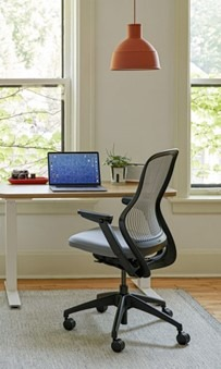 study table and chair for a home office